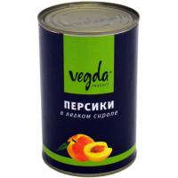 Персики Vegda в легком сиропе, 850 мл