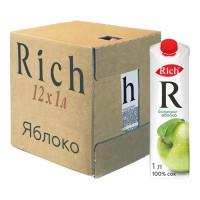 Сок Rich Яблоко, 12 шт по 1 л