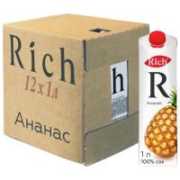 Сок Rich Ананас, 12 шт по 1 л