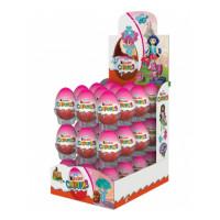 Шоколадное яйцо Kinder Surprise Розовое, 36 шт