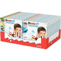 Шоколад Kinder Chocolate молочный, 4 порции по 20 шт