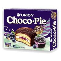 Пирожное Orion Choco Pie черная смородина 12 шт по 30г