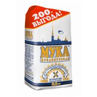 Мука Предпортовая ПМК пшеничная хлебопекарная в\с, 2.2 кг