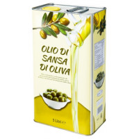 Оливковое масло для жарки Olio di sansa di oliva, 5 л