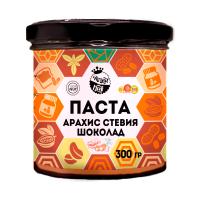 Арахисовая паста с шоколадом и стевией, 300 г