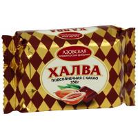 Халва подсолнечная с какао Азовская КФ, 350 г