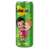 Напиток Love is…со вкусом Яблока и Лимона 330мл