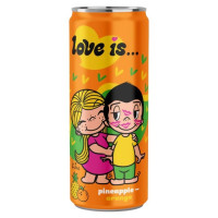 Напиток Love is…со вкусом Ананас и Апельсин 330мл