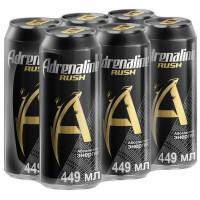 Энергетический напиток Adrenaline Rush, 6 шт по 0.449 л