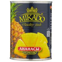 Ананасы MIKADO кусочками в сиропе, 565 г