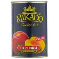 Персики Mikado половинками в сиропе 425 мл