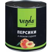 Персики Vegda в легком сиропе, 580 мл