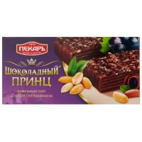 Торт Пекарь Шоколадный принц с арахисом и изюмом 260 г