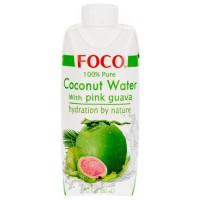 """Кокосовая вода с мякотью розовой гуавы """"FOCO"""",  330 мл"""