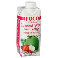 """Кокосовая вода с соком личи """"FOCO"""", 330 мл"""